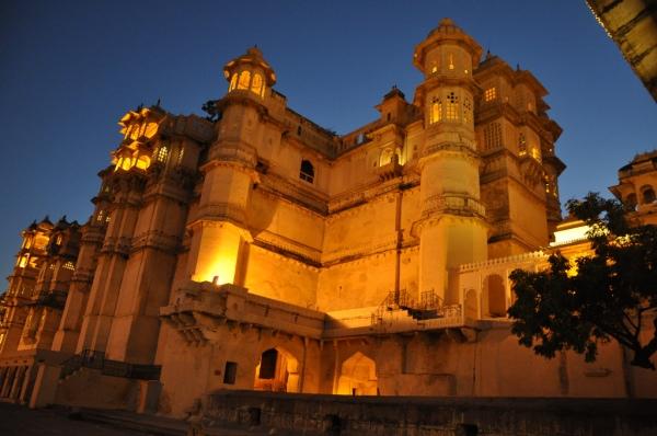 Stadspalatset i Udaipur
