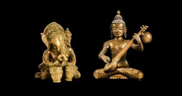 Buddha, sitar