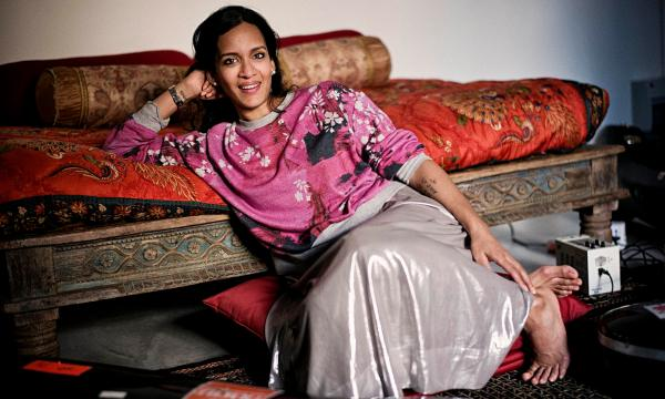 Anoushka Shankar at her east London home