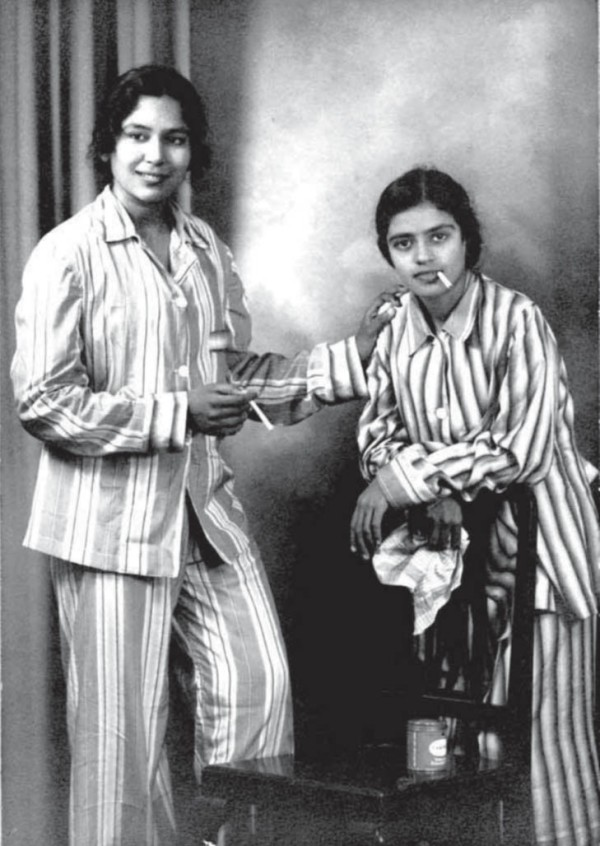 Fab: dansösen T Balaswaraswati och MS Subbulakshmi (ogift) röker i engelsk pyjamas.